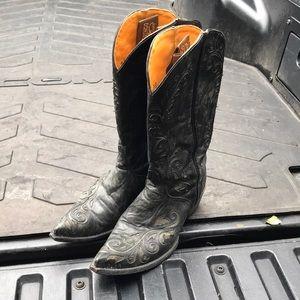 Old gringo black cowboy boots size 9